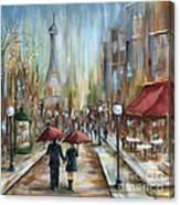 Paris Lovers Ill Canvas Print