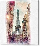 Paris Mon Amour Canvas Print