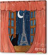 Paris Moonlight Canvas Print