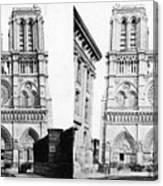 Paris Notre Dame, C1860 Canvas Print