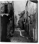 Paris Old Street, C1860 Canvas Print