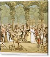 Paris Palais Royal, C1780 Canvas Print