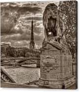 Paris Panorama Canvas Print