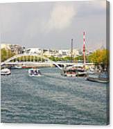 Paris River Cityscape Canvas Print