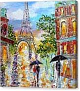 Paris Romance Canvas Print