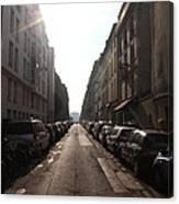Paris Side Street Canvas Print