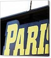 Paris Sign Canvas Print