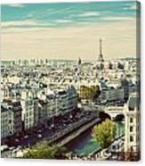 Paris Skyline France. Eiffel Tower Canvas Print