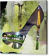 Paris Skyline In A Shoe Canvas Print