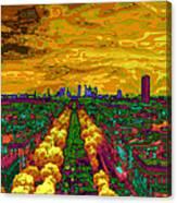 Paris Skyline Pop Art Canvas Print