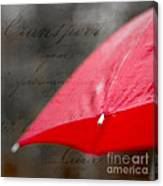 Paris Spring Rains Canvas Print