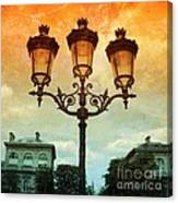 Paris Street Lamps With Textures And Colors Canvas Print