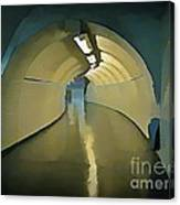 Paris Subway Connecting Tunnel Canvas Print