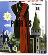 Paris Twa Canvas Print