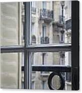 Paris Window Canvas Print