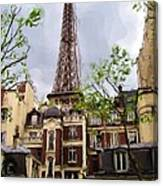 Parisian Icon Canvas Print