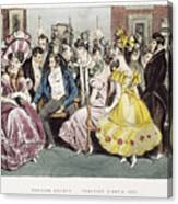 Parisian Salon, 1825 Canvas Print
