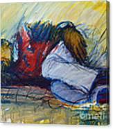 Park Bench Sleeper Canvas Print