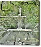 Forsyth Park Fountain - Savannah Georgia Canvas Print