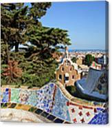 Park Guell In Barcelona Canvas Print