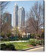 Park In Uptown Charlotte Canvas Print