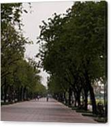 Park Leading To The King Of Thailands Palace Canvas Print