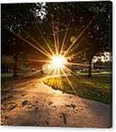 Park Sunburst Portrait Canvas Print
