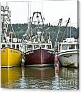 Parked Fishing Boats Canvas Print