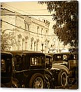 Parked Model A's Canvas Print
