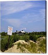 Parking By Permit - Town Of Southhampton Canvas Print