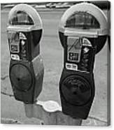 Parking Meters Canvas Print