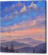 Parkway Ridges at Dusk Canvas Print