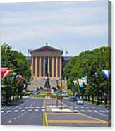Parkway View Of The Museum Of Art Canvas Print