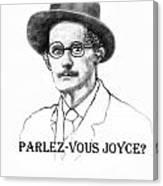 Parlez-vous Joyce Canvas Print