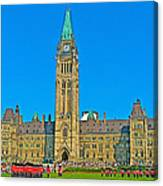 Parliament Building In Ottawa-on Canvas Print