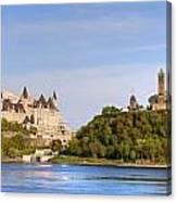 Parliament Buildings And The Fairmont Canvas Print