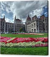 Parliament Garden Budapest Canvas Print