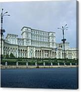 Parliament In Bucharest Canvas Print