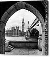 Parliament Through An Archway Canvas Print