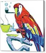 Parrot Cartoon Canvas Print