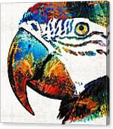 Parrot Head Art By Sharon Cummings Canvas Print