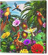 Parrot Jungle Canvas Print