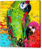 Parrot Lovers Canvas Print