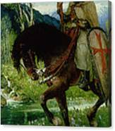 Parsifal In Quest Of The Holy Grail Canvas Print