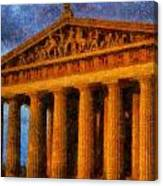 Parthenon On A Stormy Day Canvas Print