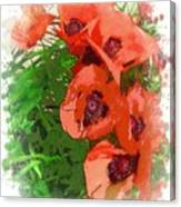 Partial To Poppies Canvas Print