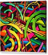 Particle Track Twenty Four Canvas Print