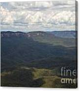 Partly Cloudy Day In The Blue Mountains Canvas Print