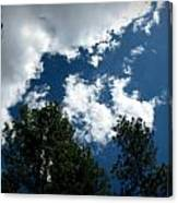 Partly Cloudy Forest Skies Canvas Print