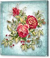 Party Of Flowers  Canvas Print